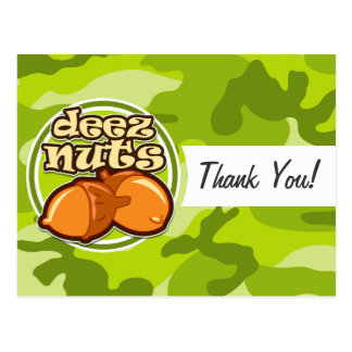 Carte Postale Écrous de Deez ; camo vert clair, camouflage