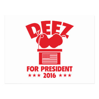 Carte Postale Écrous de Deez pour le président