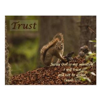 Carte Postale Écureuil - confiance