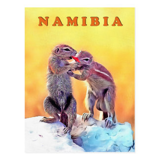 Carte Postale Écureuils de sable, Namibie