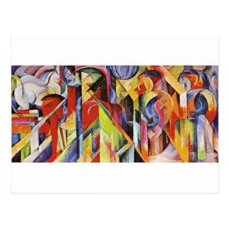Carte Postale Écuries par Franz Marc