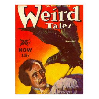 Carte Postale Edgar Allan Poe et couverture de magazine de pulpe