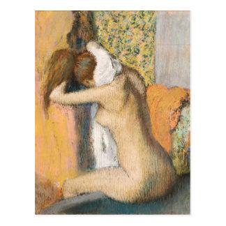 Carte Postale Edgar Degas | après Bath, cou de séchage de femme