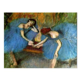 Carte Postale Edgar Degas dansant des beaux-arts de ballerines