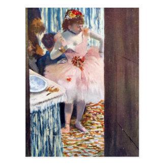 Carte Postale Edgar Degas - danseur dans le Loge