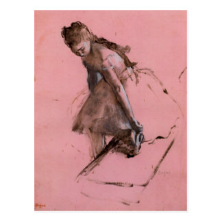 Carte Postale Edgar Degas - danseur glissant sur sa chaussure