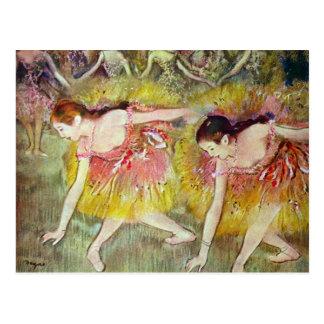 Carte Postale Edgar Degas - danseurs classiques