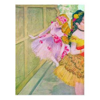Carte Postale Edgar Degas - danseurs derrière un contexte