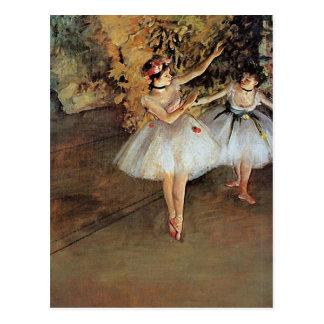 Carte Postale Edgar Degas - deux danseurs