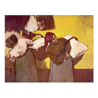Carte Postale Edgar Degas - deux femmes de joint