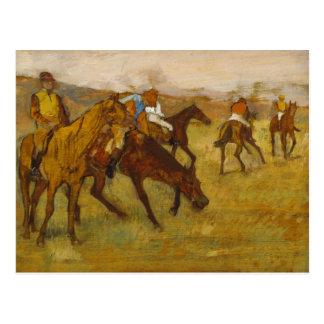 Carte Postale Edgar Degas - devant la course