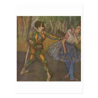 Carte Postale Edgar Degas - harlequin et Colombine 1884