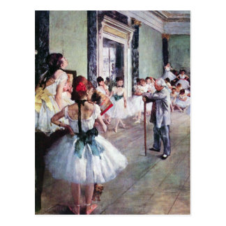 Carte Postale Edgar Degas - la classe de danse