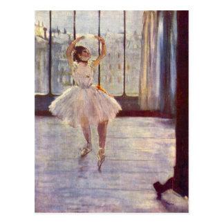 Carte Postale Edgar Degas - le danseur au photographe