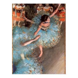 Carte Postale Edgar Degas - les danseurs de verts