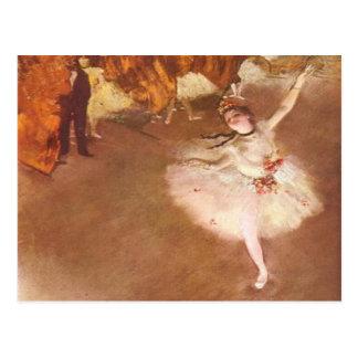 Carte Postale Edgar Degas l'étoile