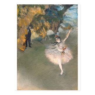 Carte Postale Edgar Degas | l'étoile, ou danseur sur l'étape