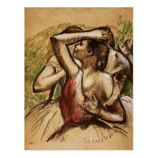 Carte Postale Edgar Degas : Trois danseurs classiques