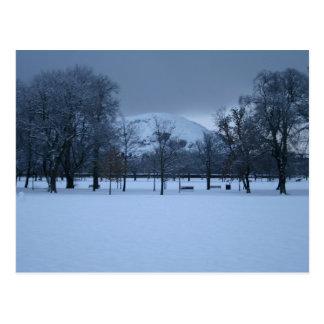 Carte Postale Edimbourg - les prés en hiver