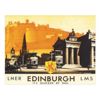 Carte Postale Edimbourg vintage LNER