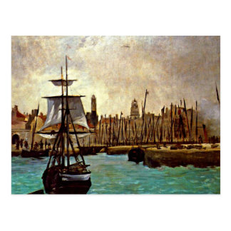 Carte Postale Edouard Manet - le port du Bordeaux