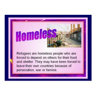 Carte Postale Éducation, citoyenneté, réfugiés, sans-abri