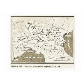 Carte Postale Éducation, histoire, napoléon, Italie du nord