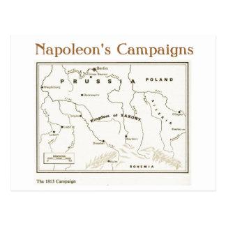 Carte Postale Éducation, histoire, napoléon, la campagne 1813