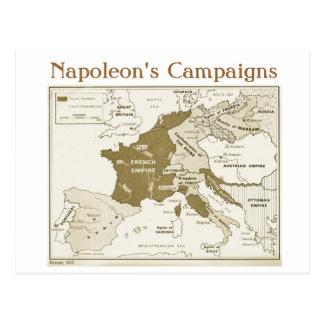 Carte Postale Éducation, histoire, napoléon, l'Europe 1812