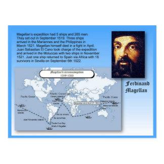Carte Postale Éducation, histoire, voyages de Ferdinand Magellan
