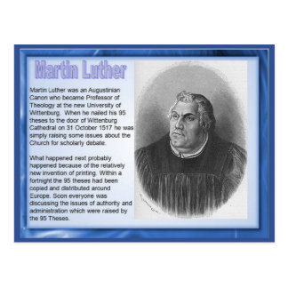 Carte Postale Éducation, religion, réforme Martin Luther