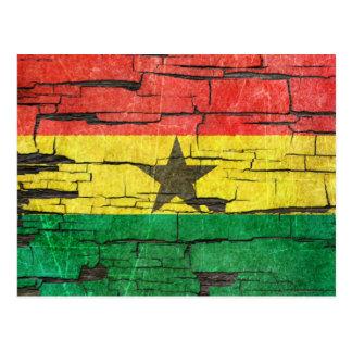 Carte Postale Effet criqué de peinture d'épluchage de drapeau du