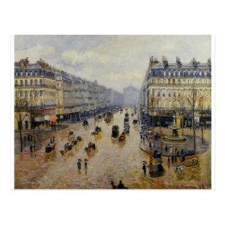Carte Postale Effet de l'Opera Rain d'avenue par Camille