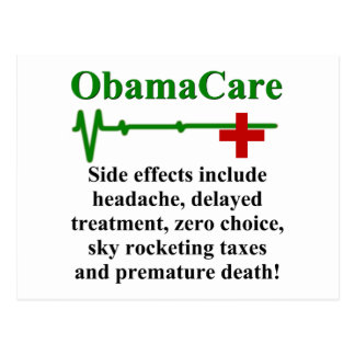 Carte Postale Effets secondaires d'ObamaCare