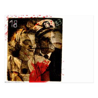 Carte postale éffrayante