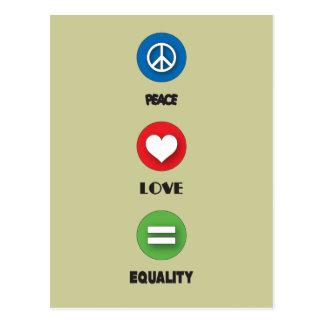 Carte Postale Égalité d'amour de paix de gay pride