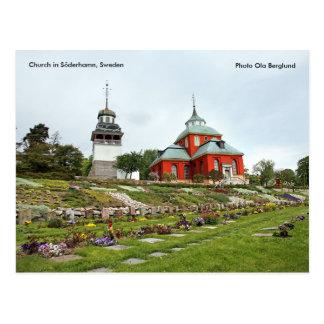 Carte Postale Église dans Söderhamn, Suède, Pho…