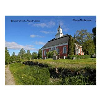 Carte Postale Église de Borgsjö, Ånge Suède, Pho…