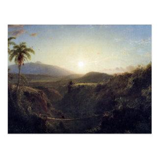 Carte Postale Église de Frederic Edwin - scène dans les Andes