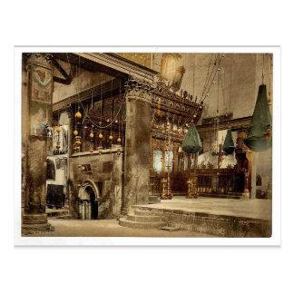 Carte Postale Église de la nativité (intérieure), Bethlehem,