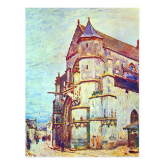 Carte Postale Église de Moret, après la pluie par Alfred Sisley