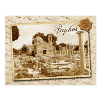 Carte Postale Église de Panagia Chrysopolitissa, Paphos, Chypre