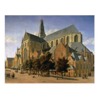 Carte Postale Église de St Bavo à Haarlem, 1666