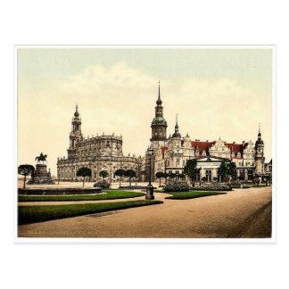 Carte Postale Église et château royal, Altstadt, Dresde, Saxe