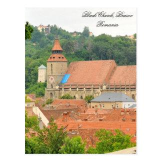 Carte Postale Église noire en Brasov, Roumanie