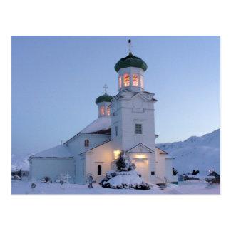 Carte Postale Église orthodoxe russe, Noël