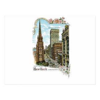 Carte Postale Église Trinity. New York, Broadway inférieur
