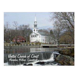 Carte Postale Église Unie du Christ à travers l'étang