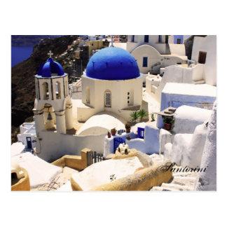 Carte Postale Églises de Santorini