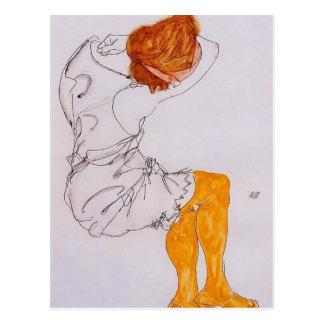 Carte Postale Egon Schiele- la fille de sommeil